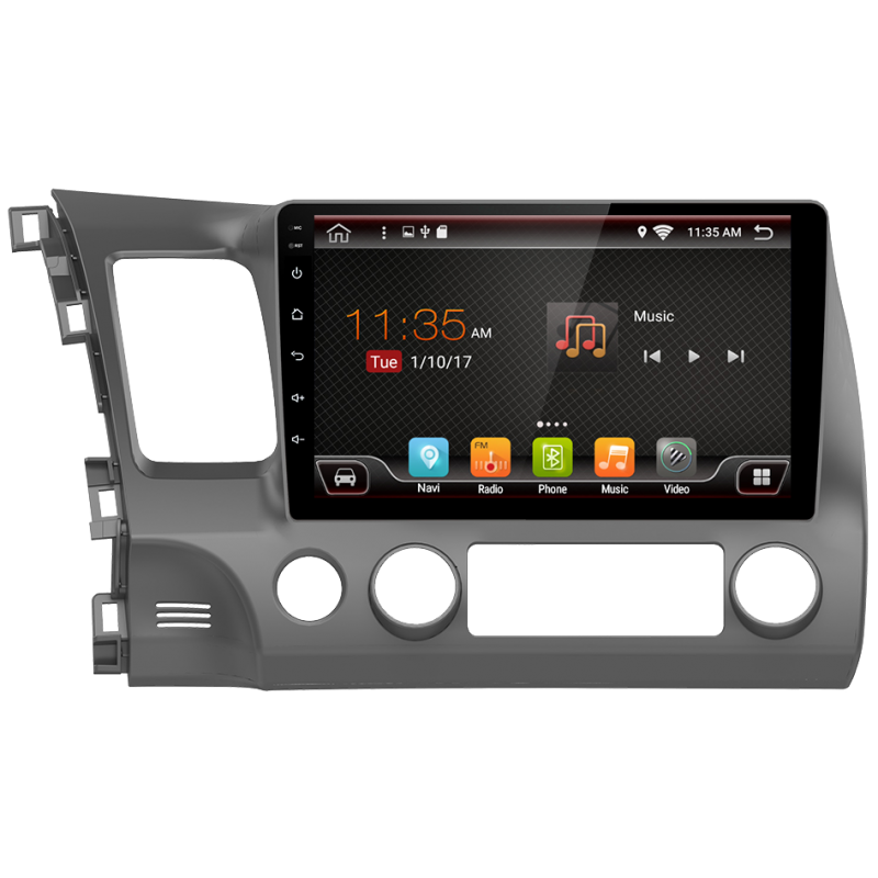 """GPS navigation touchscreen for Honda Civic (2006-2012), Android 10,1"""""""