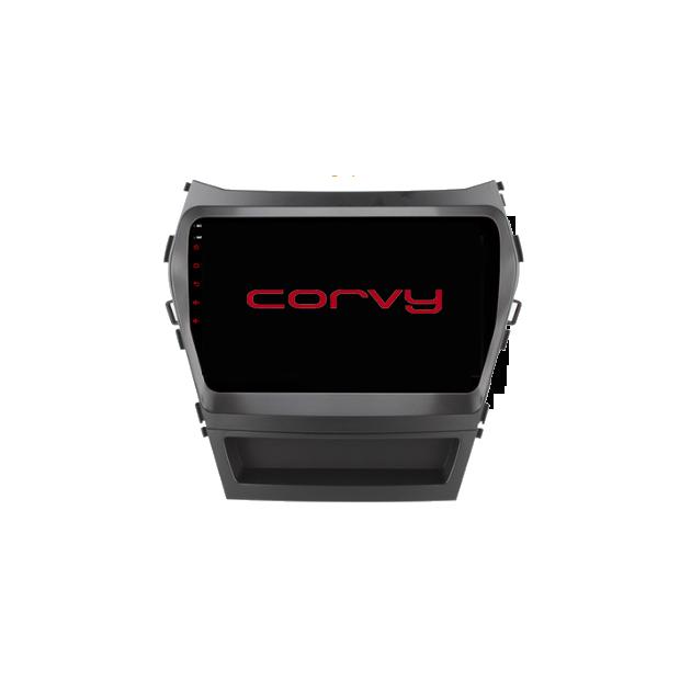 "GPS navigator touchscreen for Hyundai Santa Fe (2013-2018), Android 9"" with an amplifier."