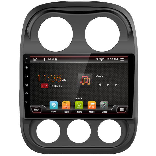 """Navigatore GPS touch per Jeep Compass (2010-2017), Android 10,1"""""""