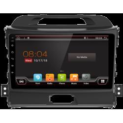 """Navigatore GPS touchscreen per la Kia Sportage R (2011-2016), Android 9"""""""