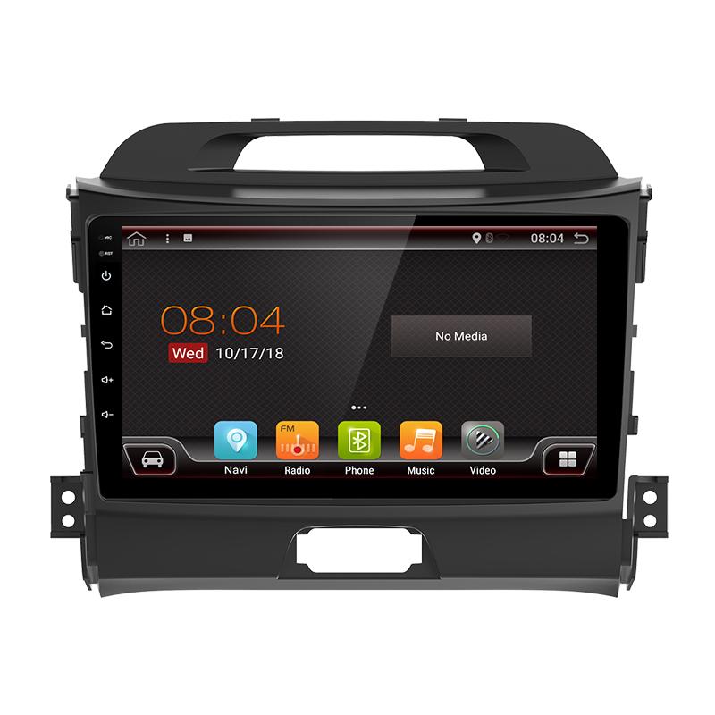 "GPS navigator touchscreen for Kia Sportage R (2011-2016), Android 9"""