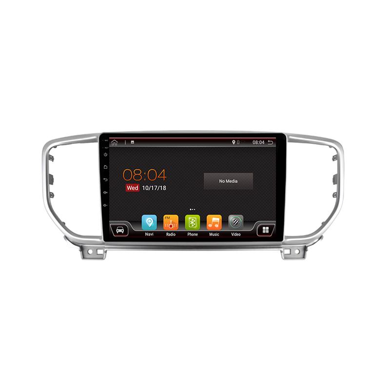 "Navigatore GPS touchscreen per Kia Sportage KX5 (2016-presente), Android 9"""