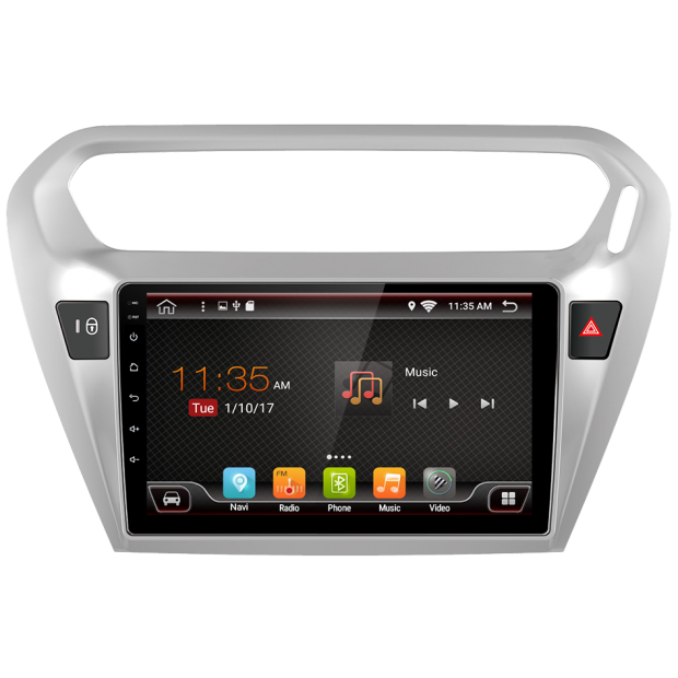 GPS navigator Peugeot 301 (2014-2017), Android 9""