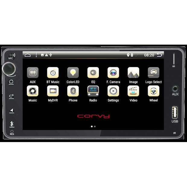 """GPS de navigation de Toyota Land Cruiser (2008-présent), Android 7"""" (radio de la série bas de gamme)"""