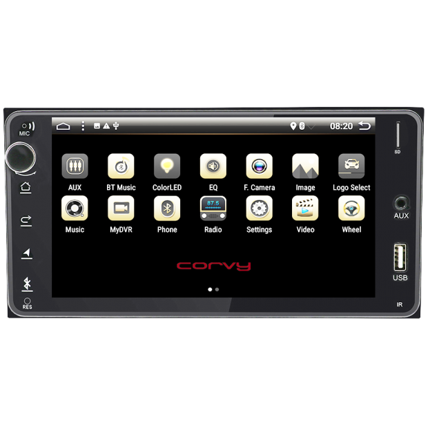 "GPS navigator of Toyota Land Cruiser (2008-present), Android 7"" (radio series low range)"