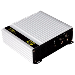 Amplificador monofónica digital full-range ventilada. 1.515 w rms @4 Ω/ 2.275 w rms @2 Ω/ 3.250 w rms @1 Ω.