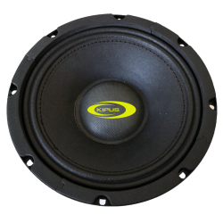 "Mid-bass 6,5"". 135 w rms/340 w max. Impedanz 4 Ω"