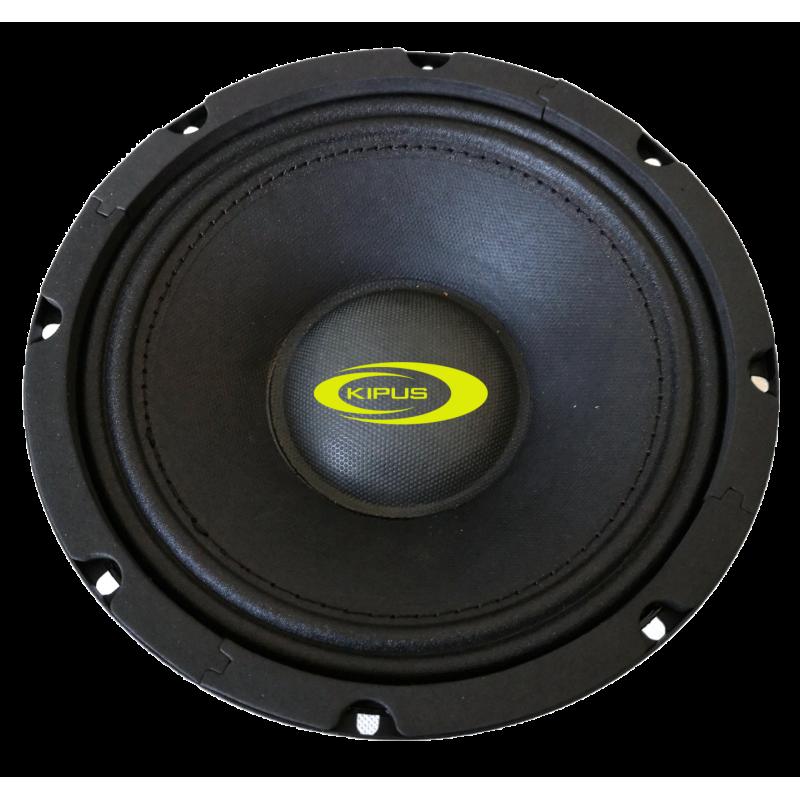 "Mid-bass 6,5"". 135 w rms/340 w max.  Impedancia 4 Ω"