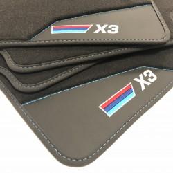 Le stuoie del pavimento, in Pelle BMW X3 E83