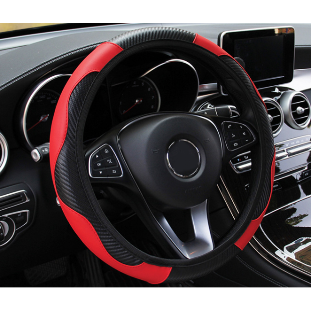 Cover steering wheel Red