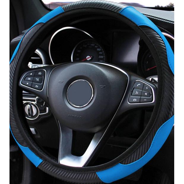Funda de volante azul