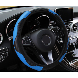 Cover steering wheel blue