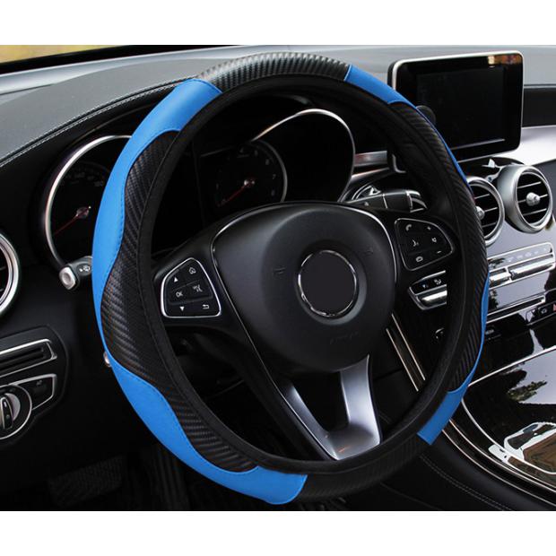 Capa de volante azul