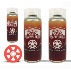 Kit verniciato i cerchi rossi fluoruro (lucido o opaco) - WrapWorkers