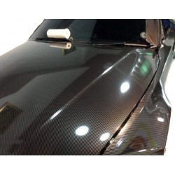 Vinyl Carbon Gloss Black PREMIUM 200x152cm (Roof complete)