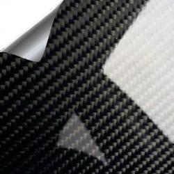 Vinil Carbono Preto Brilho PREMIUM 200x152cm (Teto completo)
