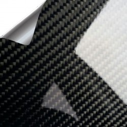Vinyl Carbon Gloss Black PREMIUM 25x152cm