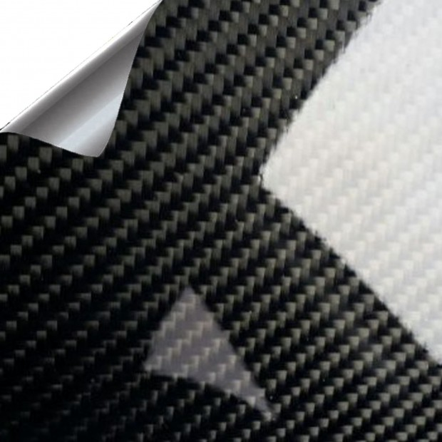 Vinil Carbono Preto Brilho PREMIUM 100x152cm