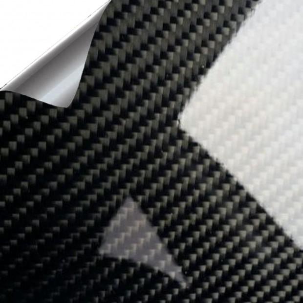 Vinyl Carbon Schwarz Glanz PREMIUM 100x152cm