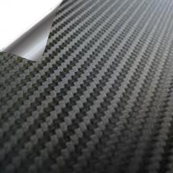 Vinyle Noir en Fibre de Carbone PREMIUM 25x152cm