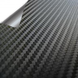 Vinyl Kohlefaser Schwarz PREMIUM 200x150cm (Dach komplett)