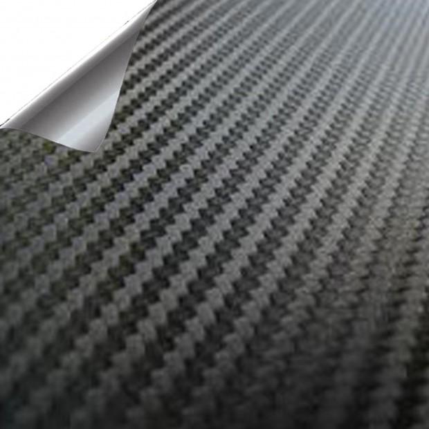 Vinyle Noir en Fibre de Carbone PREMIUM 200x150cm (Toit complet)