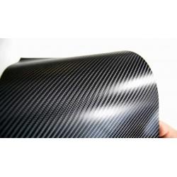 Vinyle de Fibre de Carbone Noir Luminosité Normale 75x152cm