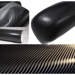 Vinil Fibra de Carbono Preto Brilho Normal 50x152cm