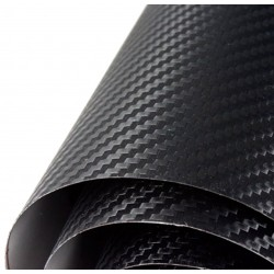 Vinyle Noir en Fibre de Carbone Normal 75x152cm