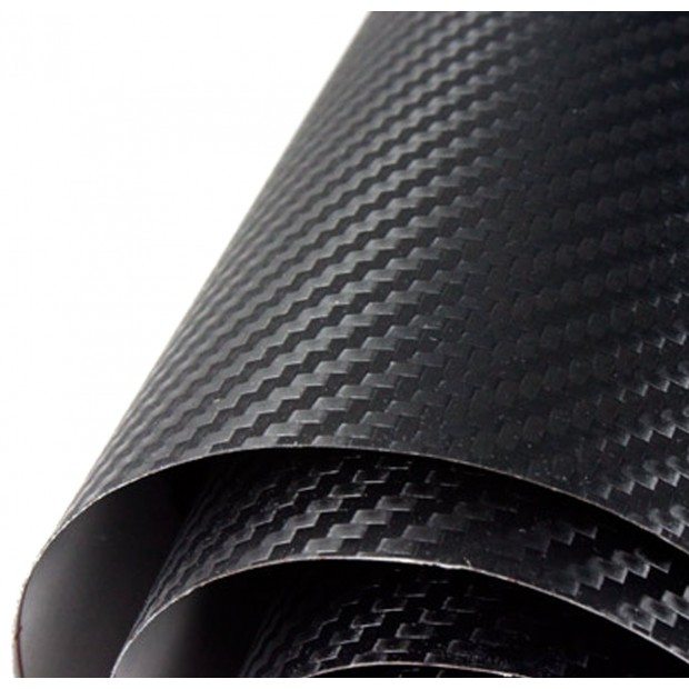 Vinyle Noir en Fibre de Carbone Normal 25x152cm