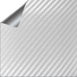 Vinil Fibra de Carbono Branco 100x152cm