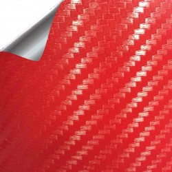 Vinil Carbono Vermelho 75x152cm