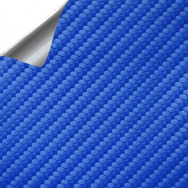 vinyle de fibre de carbone bleu