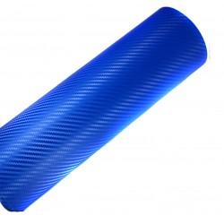vinilo fibra carbono azul
