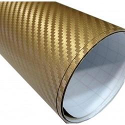 Sticker Vinyl carbon fiber Gold - 100x152cm
