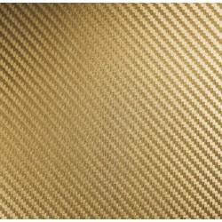 Adesivo in Vinile in fibra di carbonio Oro - 100x152cm