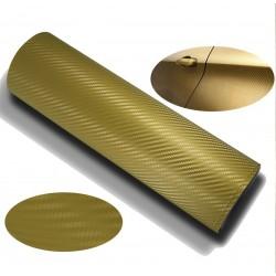 Vinyle de fibre de carbone de l'Or - 100x152cm