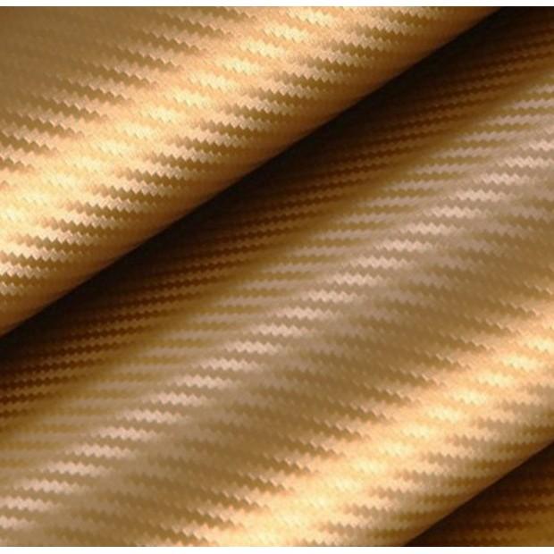 Vinyl carbon faser - Gold 100x152cm