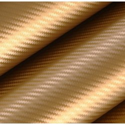 Vinyle Carbone Or - 50x152cm