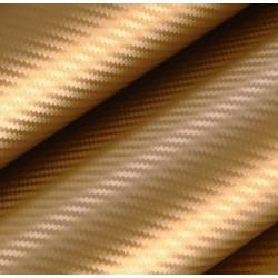 Vinilo Fibra Carbono Oro - 25x152cm