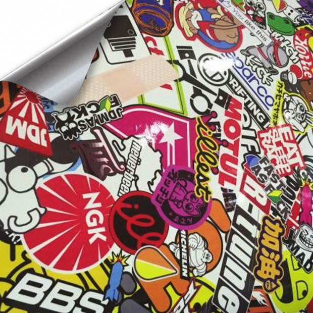 Vinyl Hellaflush BBS brightness 100x152cm