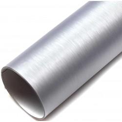 Vinyl Brushed Aluminum 100x152cm