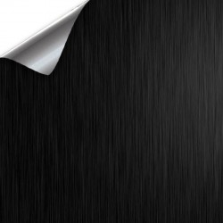 Vinyl Black Brushed 50x152cm