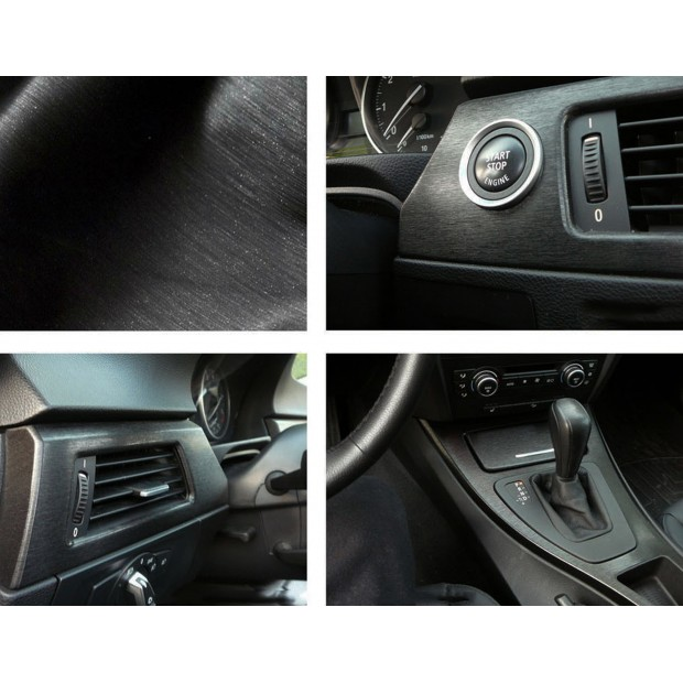 Vinyl Black Brushed 1500x152cm (complete Car)