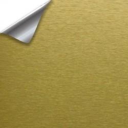 Vinil dourado escovado carro - 100x152cm