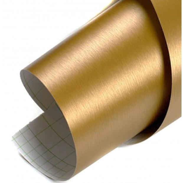 Vinyl gold gebürstet auto - 100x152cm