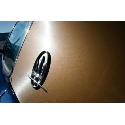 Or vinyle brossé voiture - 100x152cm