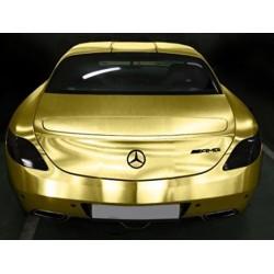 Gold vinyl brushed car - 100x152cm