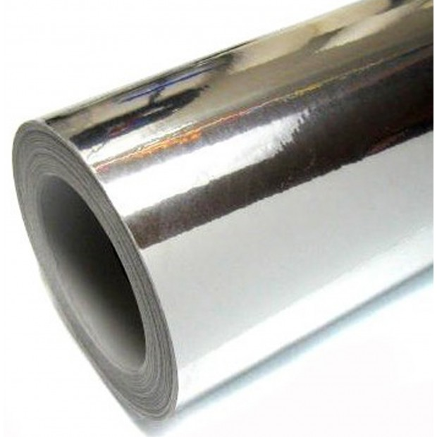 Vinilo Cromado Plata 25x152 cm