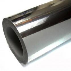 Vinilo Cromado negro 25x152 cm